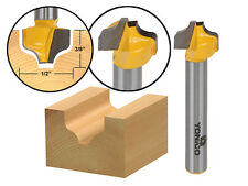 """Ogee Groove Router Bit - 1/2"""" Diameter - 1/4"""" Shank - Yonico 14976q"""