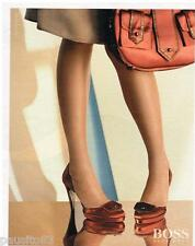 PUBLICITE ADVERTISING 105  2006  HUGO BOSS  chaussures & sac femme