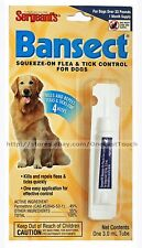 SERGEANT'S^* BANSECT Squeeze-on FLEA & TICK CONTROL For Dogs OVER 33 lbs 1 Month