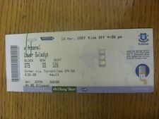 18/03/2007 Ticket: Everton v Arsenal (folded). Any faults are noted in brackets,