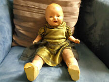 Antique Vintage Baby Doll 1930's - 1940's Mechanical Voicebox Eye's Move Old