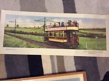 Old railway posters.. travel in 1915... Electric Tram...
