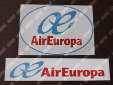 2x AIR EUROPA AIREUROPA LOGO STICKERS / DECALS 1 OVAL 1 RECTANGULAR