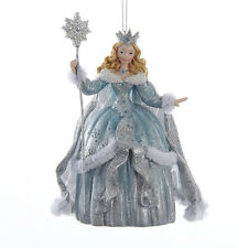 C9261 Platinum Teal Snow Ice Queen Sceptre Frosted Kingdom Christmas Ornament