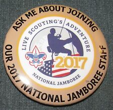 2017 National Boy Scout Jamboree Ask Me About Joining Our Staff Button MINT! Jam