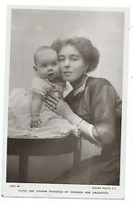 ROYALTY - CROWN PRINCESS of SWEDEN & DAUGHTER Rotary Real Photo Postcard