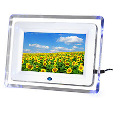"7"" Digital Photo Picture Video Frame White Includes 2GB SD Card & Remote Control"