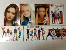 SET OF 7 SPICE GIRLS POSTCARDS OFFICIAL MERCHANDISE DATED NUMBERED 1997 VINTAGE