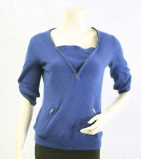 "$188 BCBG LARKSPUR BLUE ""KKG1E305"" LAMBWOOL SWEATER TOP NWT S"