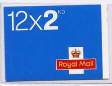GB 2012 12 x 2nd CLASS BARCODE BOOKLET ME5c Code M12L