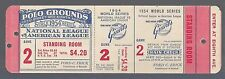1954 WORLD SERIES CLEVELAND INDIANS @ NEW YORK GIANTS UNUSED TICKET GAME #2