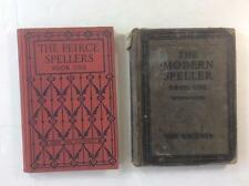 Lot of 2 Vintage Spelling Books by Ginn and Company 1912 Hardcover school text