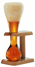 Set of 6 New Pauwel Kwak Belgian Ale Beer Glasses with wooden Stand 0.3L