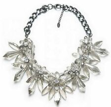 Elegant Design Zara ACRYLIC Crystal Clear Bead Statement Necklace Bloggers