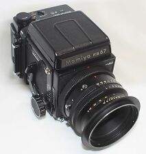 Mamiya RB 67 Pro Professional SD Camera K/L F3.5 127mm L Lens 120/220 Film Back