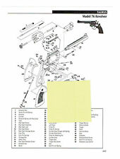 TAURUS Model 76 and Model 80 Revolver Exploded View Parts 2011 Ad
