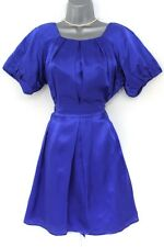BNWT M&S Limited Collection Blue Silk Satin Evening Occasion Dress 12 NEW