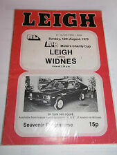 Leigh v Widnes 12th August 1979 A+B Motors Charity Cup Match