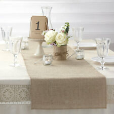 Rustic Vintage Hessian Burlap Table Runner 2m