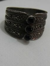Vintage silver sterling 925 ring hand made modern style size 8 antique look