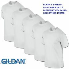 White 1 5 10 20 Pack Mens Blank Gildan Plain Cotton Tshirt T Shirt Tee Top Lot