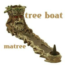 "Incense Burner 11 "" Stick  Polyresin Tree Burner  Matree Tree Boat"