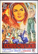 CINEMA-manifesto I CENTO CAVALIERI damon, lualdi, moschin, COTTAFAVI