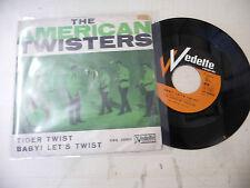 """THE AMERICAN TWISTERS""""TIGER TWIST-disco 45 giri VEDETTE italy 1964"""" RARE"""