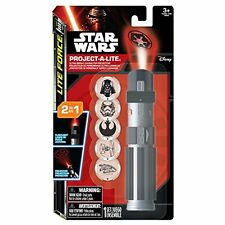 DISNEY STAR WARS LIGHTSABER PROJECT A LITE - 2 IN1 TORCH OR PROJECTOR 6 X DISCS