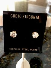 2CT TW Genuine Cubic Zirconia Earrings , 14KT Gold Electroplate.