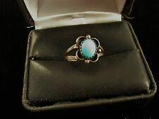 VINTAGE  SOUTHWEST  TURQUOISE  RING   STERLING  SIZE  7
