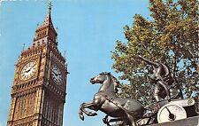 BR14970 Big Ben and Boadicea Statue London   uk