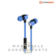 Naztech HyperGear dBm Wave 3.5mm Earphones w/Mic - Blue Loud Audio Hear Sound