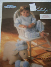 Vintage 1992 Lullaby Brunswick Baby Knit Pattern Book Doll Afghan Hat Sweater