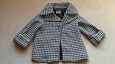 NWT Women's DARLING CLOTHES Black and White Houndstooth pattern coat Size Med