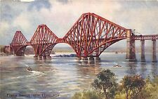 BR58622 forth bridge near edinburgh ship bateaux painting postcard   scotland