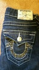 NWOT-True Religion women's sz 24 Becky jeans, Swarovski crystal horseshoe pocket