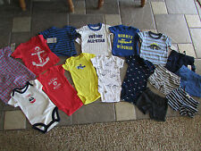 NEW LOT/16 CARTER'S BABY BOY CLOTHING SHORTS SHIRTS ROMPERS+ 3M  SPRING SUMMER