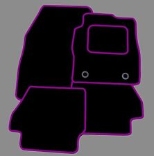 TOYOTA AYGO 2005-2012 TAILORED BLACK CAR MATS WITH PURPLE TRIM