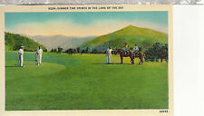 Summer Sports In The Land of The Sky   Golf & Horseback Riding   Postcard 12024