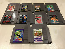 10 Game Nintendo NES Lot. Great Titles!! Cleaned and Tested!!!