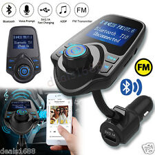 Bluetooth Car Kit MP3 Player Handsfree Wireless FM Transmitter USB LCD Modulator