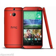"Unlocked 5"" HTC One M8 4G LTE Smartphone Android 32GB GSM WIFI Cell Phone RED"