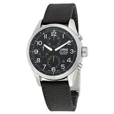 Oris Big Crown ProPilot Chronograph Automatic Black Dial Black Leather Mens