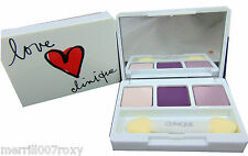 CLINIQUE ALL ABOUT EYE SHADOW TRIPLE COMPACT 3 SHADES NEW DESIGN GOING STEADY