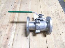 """2"""" INLINE 209F-D6666-CTAA-2S 150# Flanged Stainless Full Port Ball Valve NEW"""