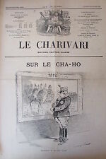 SATIRIQUE PAMPHLET POLITIQUE LE CHARIVARI de 1904 MARECHAL OYAMA OFFICIER JAPON