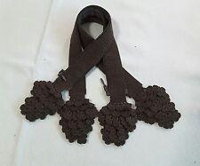 NEW Handle Cover Crochet Handmade for LV Louis Neverfull pm Dark Brown