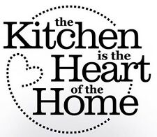 KITCHEN HEART OF HOME Circle Dot Wall Art Decal Quote Words Lettering Decor DIY