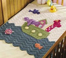 baby Noah's Ark Blanket / cot  aran Crochet Pattern.